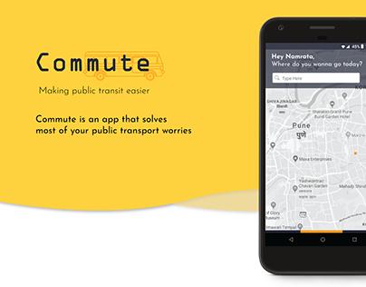 Commute: Public Transport App Concept