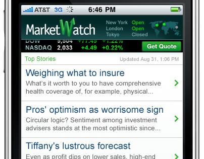 MarketWatch iPhone App
