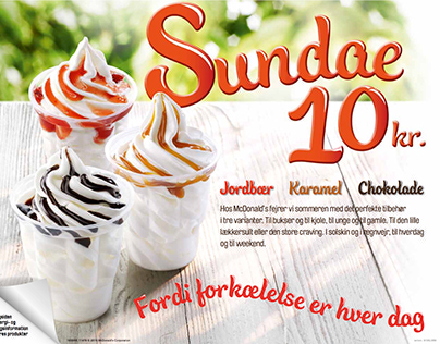 McDonald's Trayliner Sundae Campaign