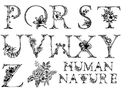 Human Nature Font- Advanced Typography