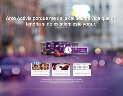 Danone Activia: Day-Time web concept