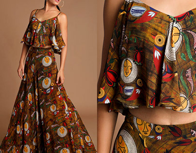 Textile print for House of Masaba