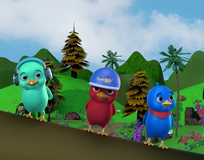 3D animation Birds Song