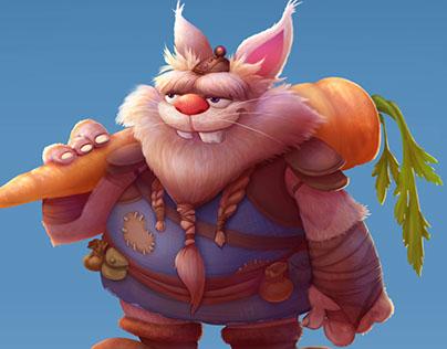 Character Design - Fat Rabbit