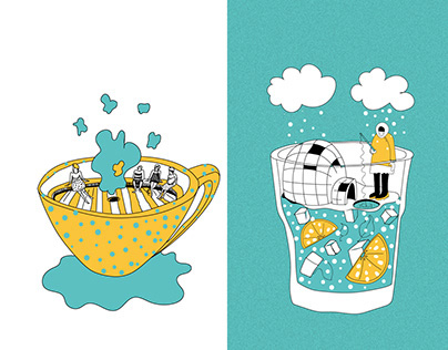 Coffee House Menu Illustrations