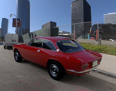 Alfa Romeo 1750 GT - Modeling & Rendering