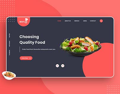 Restaurant & cafe Website landing page design