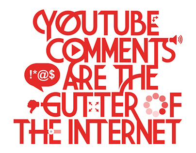 YouTube Comments Typography