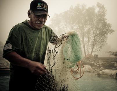 Cerilo Martinez - Fisherman on the Río Gallinas.