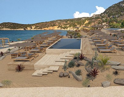 Seaside Pool Bar and Restaurant in Crete