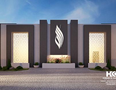 Interior And Exterior Modern Mosque