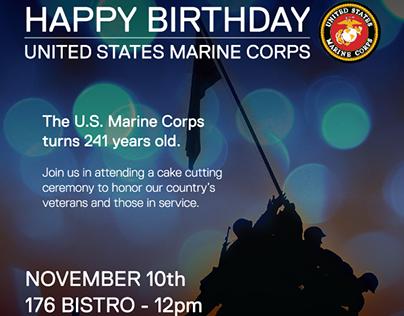 Dell EMC Marine Corps Birthday Event Marketing