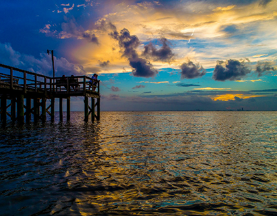 Dramatic Sunsets on Mobile Bay