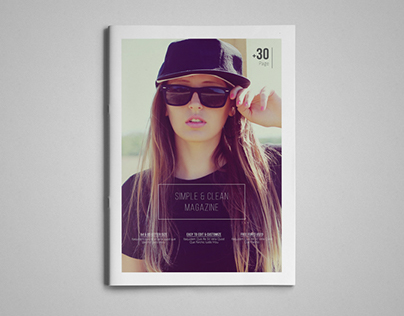 Simple & Clean Magazine Template