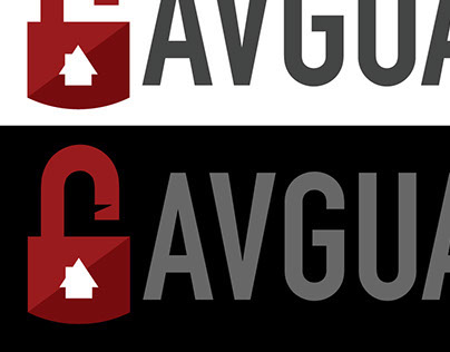 AVGUARD Home security company logo design