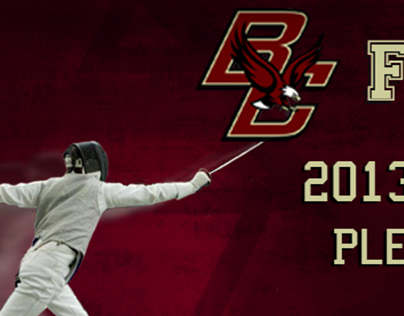 Boston College Fencing Banner
