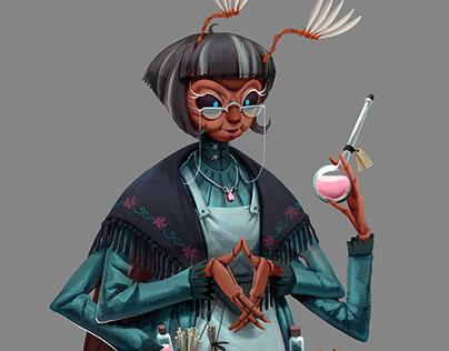 Mrs Maybug. Pharmacist