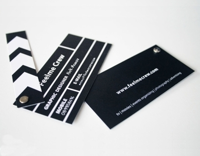 Business cards design: Feelme Crew
