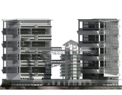 Sustainable Multi-Residential Living + Vertical Farming