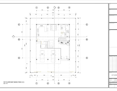 Architectural drawings of townhouses
