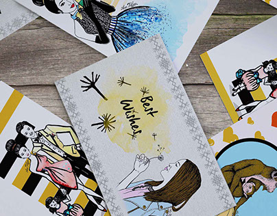 Illustrated post Cards_Hand draw