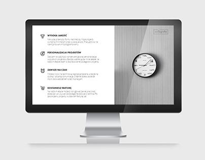 Monochromatyczna i nowoczesna prezentacja powerpoint