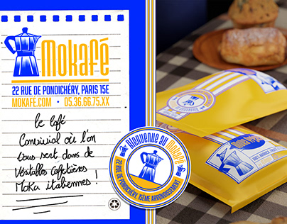 Mokafé - Coffee shop identity