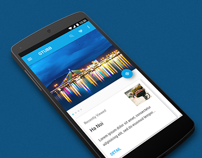 Freebie HTML5 Material Travel App
