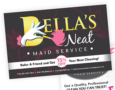 Bella's Neat Cleaning Service Brand Identity