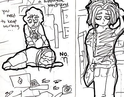 Sketches, Drawings, Cartoons