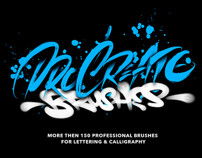 Lettering&Calligraphy Pro Brushes for Procreate