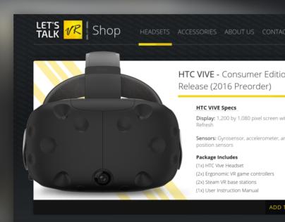HTC Vive Preorder- Lets Talk VR Ecommerce Shop Card
