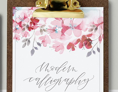 Modern Calligraphy for beginners. By May Oliveira