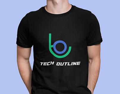 Logo Design | Tech Outline |T-Shirt Mockup
