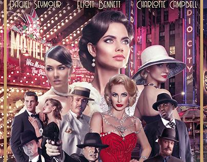 GAMBLERS FILM NOIR Movie Poster Photoshop Manipulation