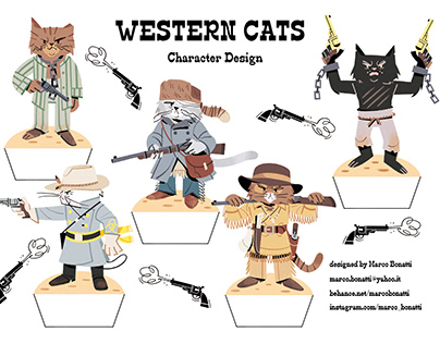 """""""WESTERN CATS""""_Character Design"""