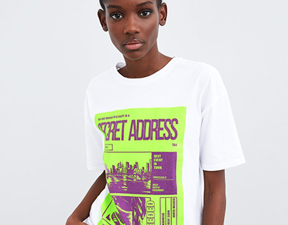 T-shirt SECRET ADDRESS - ZARA TRAFALUC