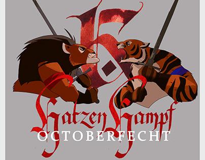 Оформление турнира по длинному мечуKatzenKampf October