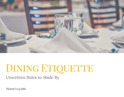 Unwritten Rules for the Best Dining Etiquette