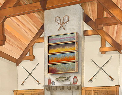 Comp Illustration - Fishing Lodge Interior