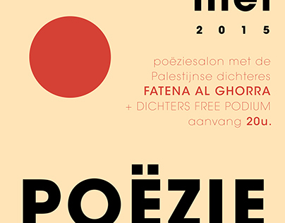 Poster for Poëziesalon @ Beautiful Planet