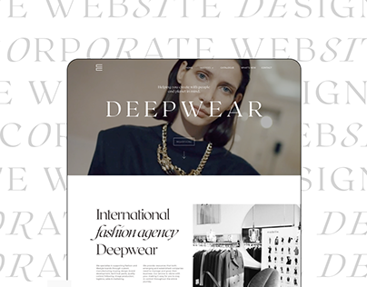 FASHION AGENCY WEBSITE REDESIGN