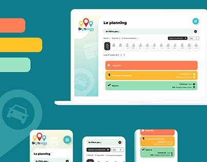 UI design - WebApp évènementiel