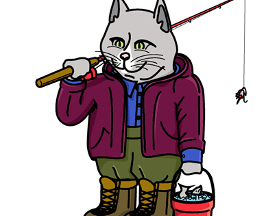 Leisure Cat by GrahampaSteez (Fishing Edition)