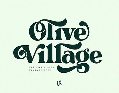 Olive Village - Vintage Font