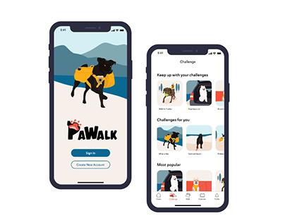 Dog Walking App UX Design, Visual Design