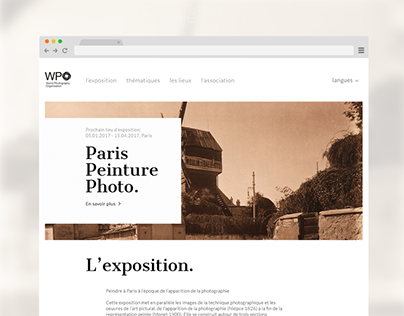 WEB DESIGN // Paris, Peinture, Photo. Speed Maketing