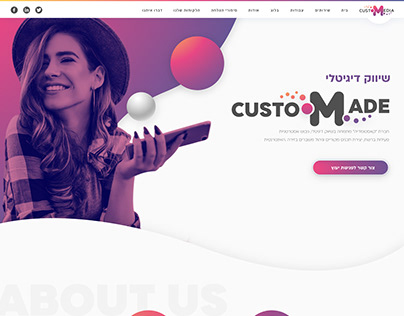 Design of website and logo for advertising company