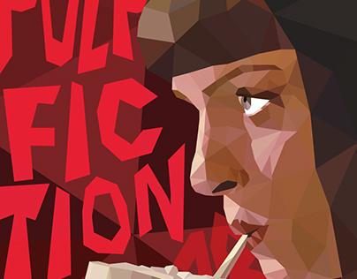 Cartazes Pulp Fiction em Low Poly