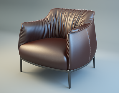 Armchair photorealistic rendering